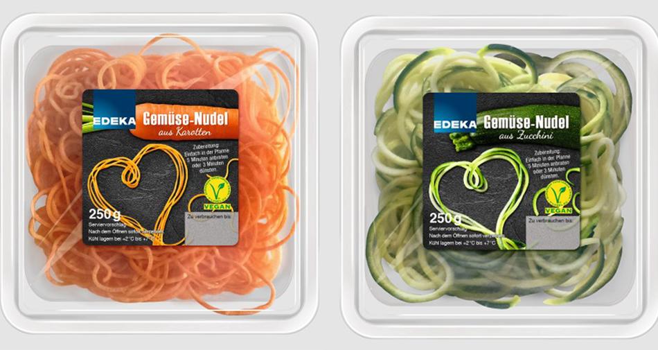 edeka bringt zucchini und karottennudeln auf den markt. Black Bedroom Furniture Sets. Home Design Ideas